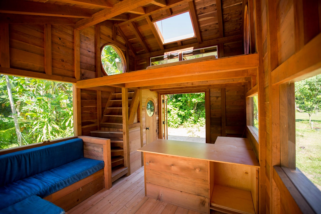 Tiny house eco design challenge local earth for Small house interior